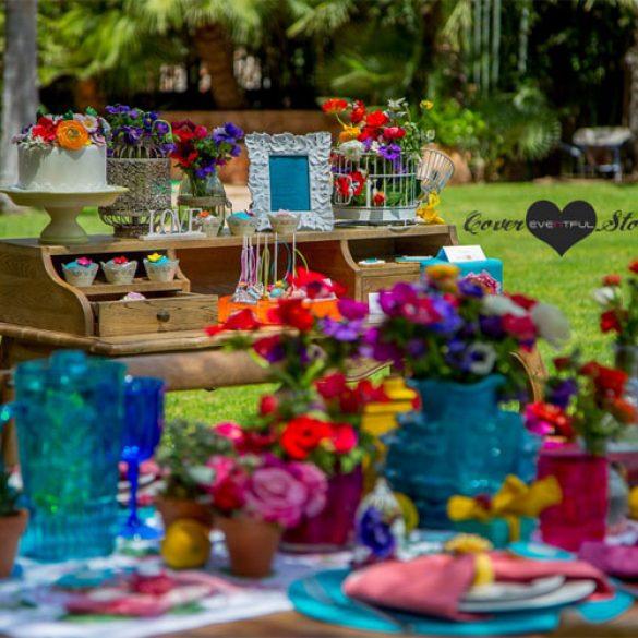 A colorful setup