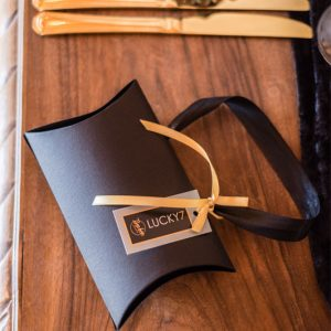 Luxury packaging in black and gold