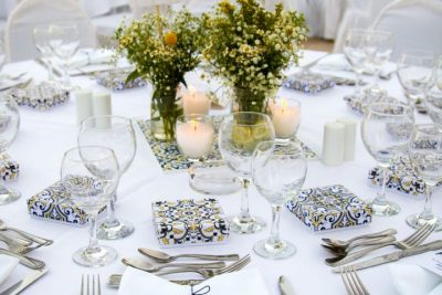 A&L blue and yellow wedding