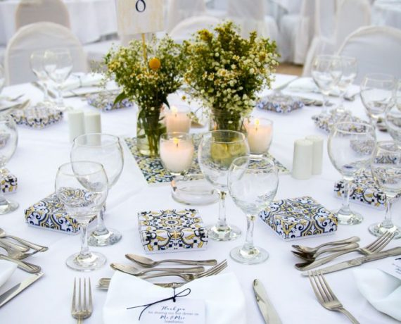 A&L blue & yellow wedding