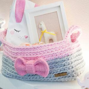 baby bodysuit, baby frame, baby gift-set, handmade knitted basket