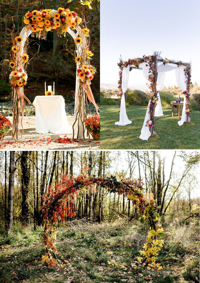 Fall wedding backdrops, Fall arches