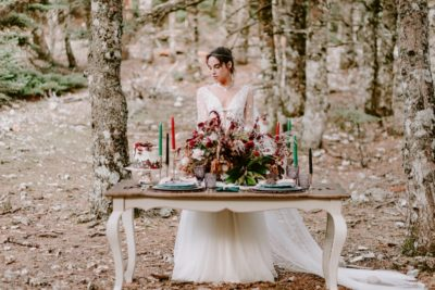 Forest wedding styled shoot