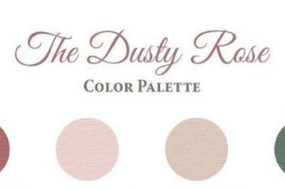 Wedding color palette: Dusty Pink