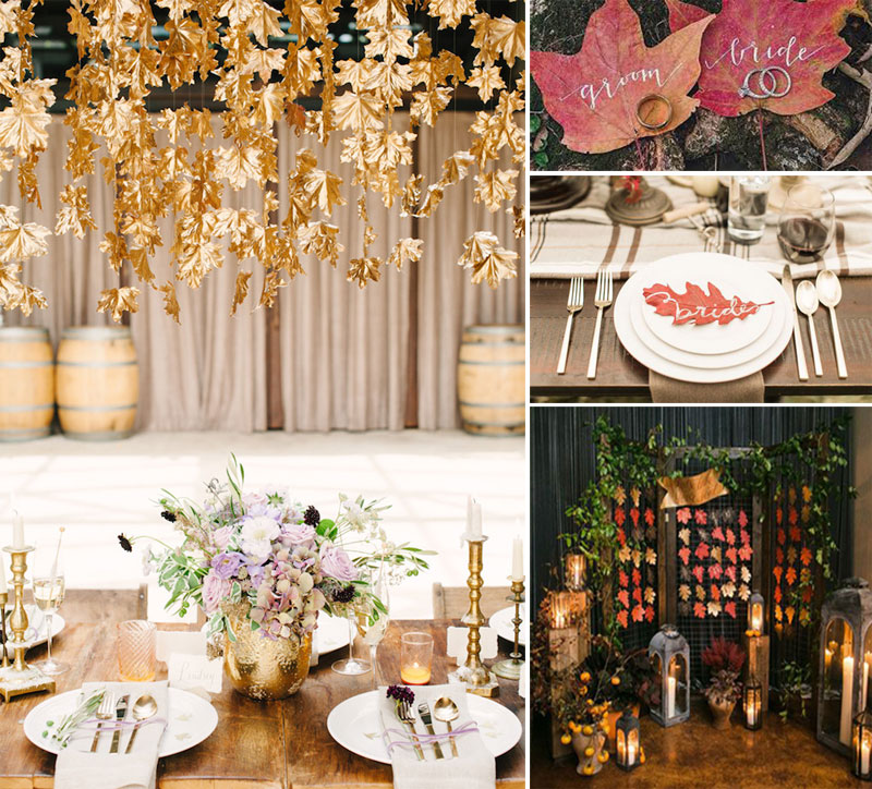 Fall wedding decoration-details