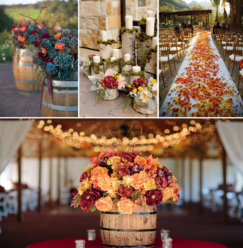 Fall wedding floral decoration_2