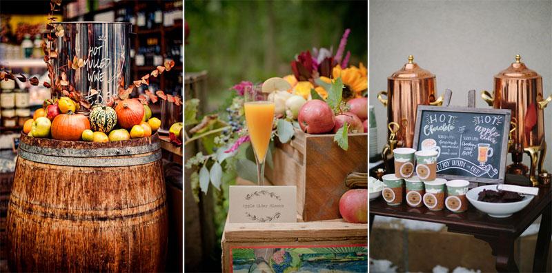 χειμωνιάτικος γάμος ποτά, winterwedding welcome drinks
