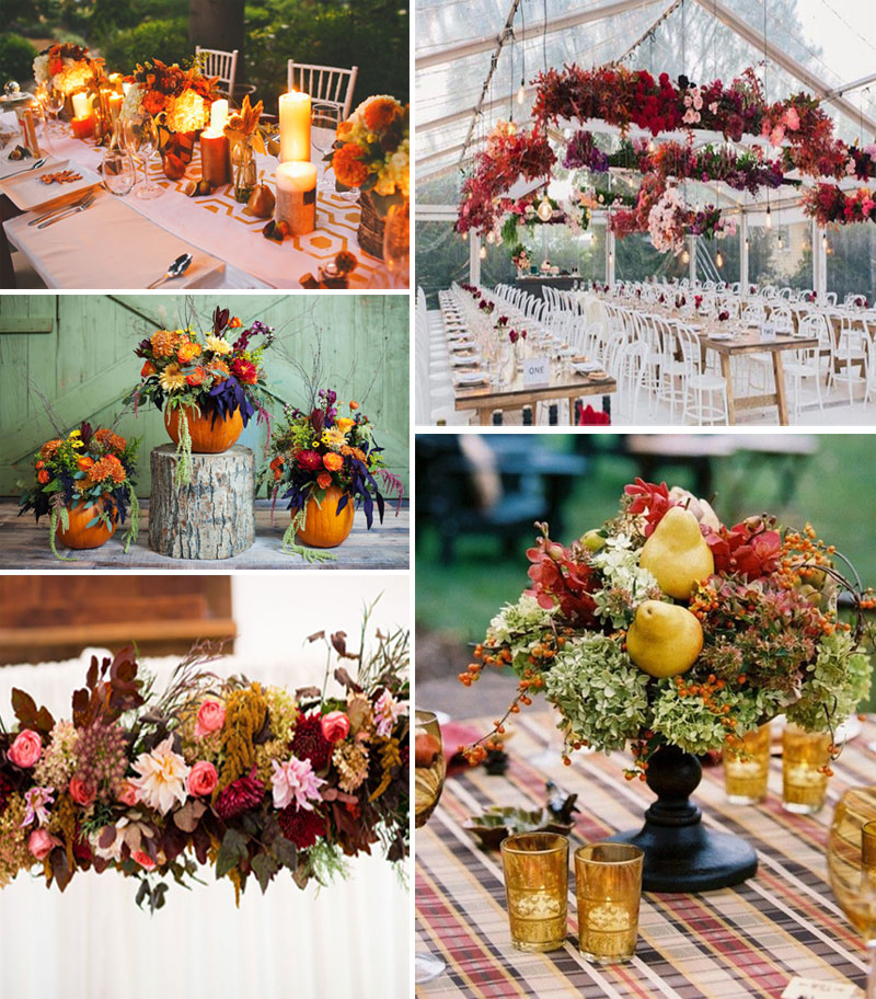fall wedding flowers_setup decoration