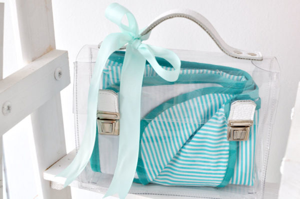 baby gifts, baby blanket, transparent bag