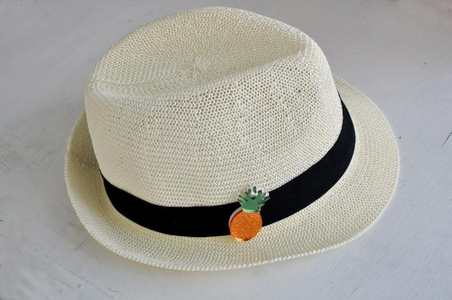 gifts, summer gifts, summer hat, pineapple Plexiglas