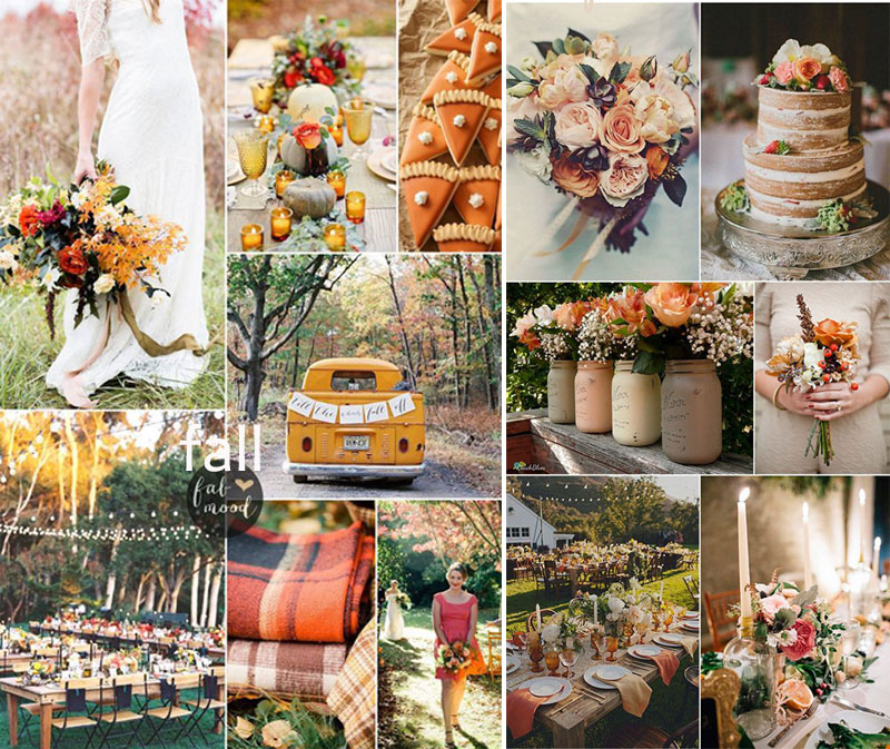 fall wedding moodboard