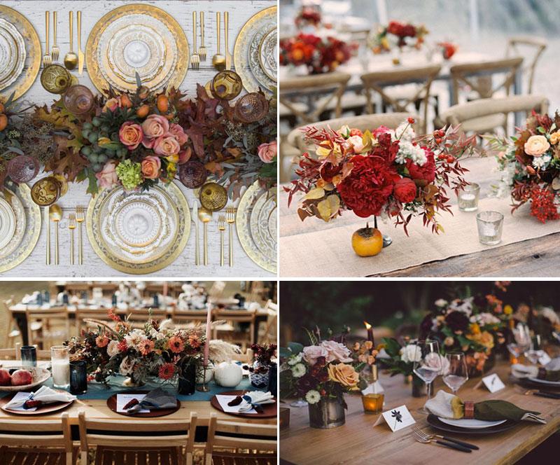 fall wedding tablesetup, φθινοπωρινός γάμος
