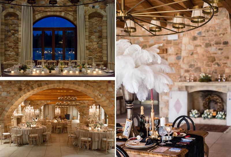 winter wedding venue, τζάκι, πέτρα, ξύλο, χειμωνιάτικος γάμος χώροι