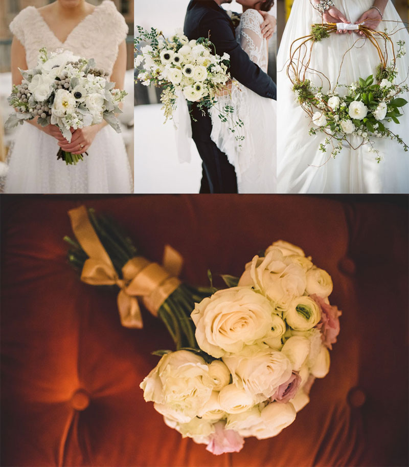 bridal bouquet white, winter bridal bouquet, χειμωνιάτικη νυφική ανθοδέσμη λευκή