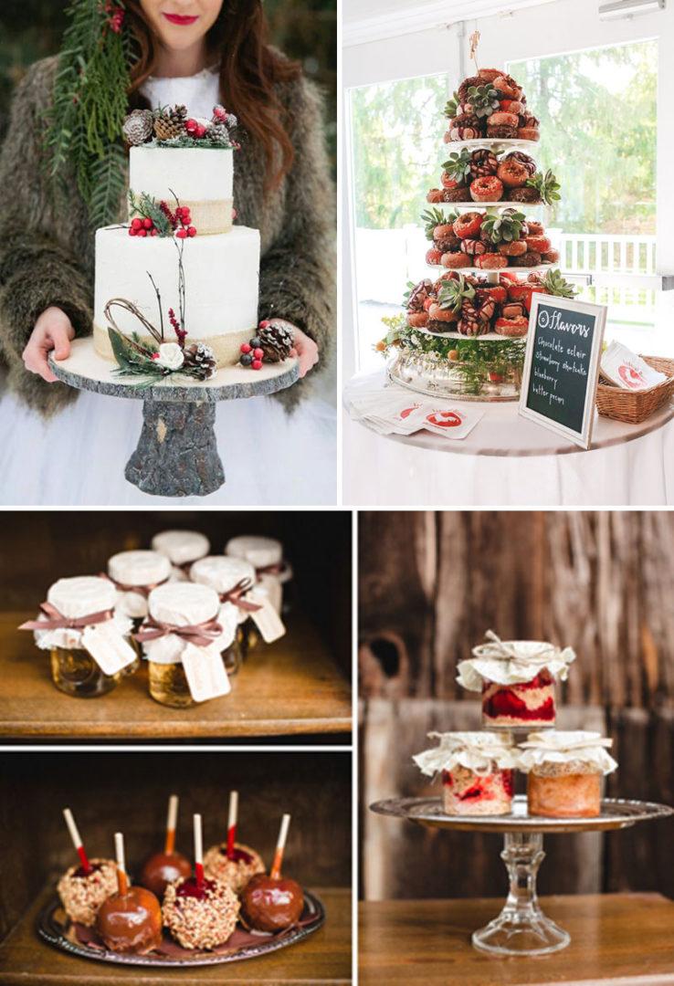 winter wedding candy bar, dessert table, χειμωνιάτικος γάμος γλυκά