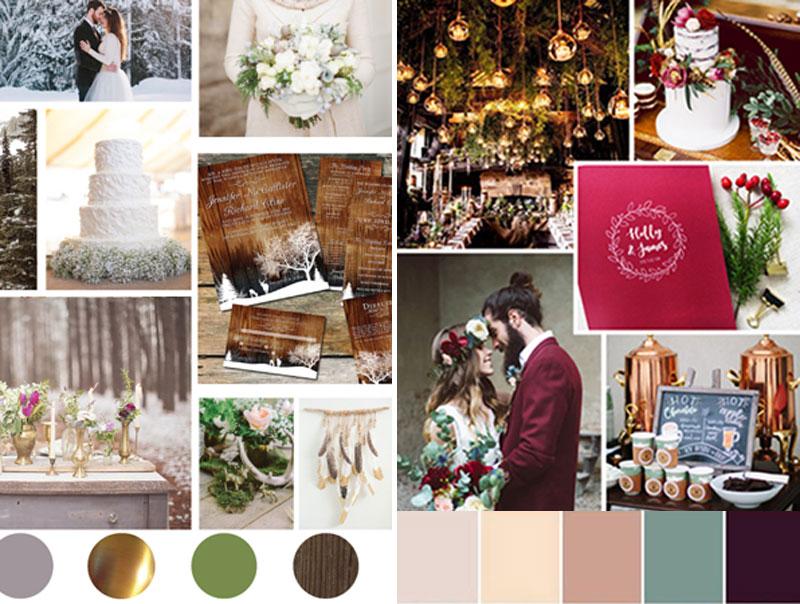 χειμερινός γάμος, χρώματα, winter wedding moodboard, colors, colorpallet